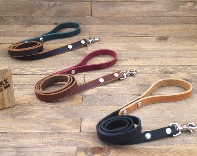 Lead, Leather dog leash, Silver, Colourful leashes, Handmade dog leash, Strong leash, Lead, Everyday lead, Leash, Dog gift, Red leash.