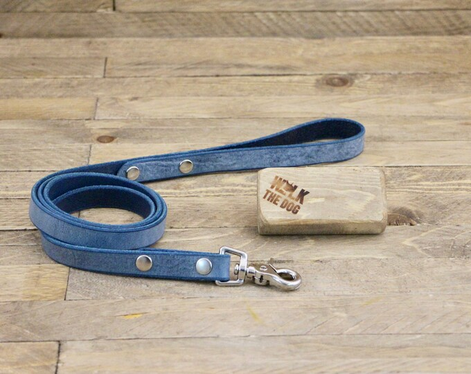Leather leash, Leash, Dog leash, Pet gift, Leather leash, Strong leash, ''Cloudy sky'' leather leash, Strong lead.