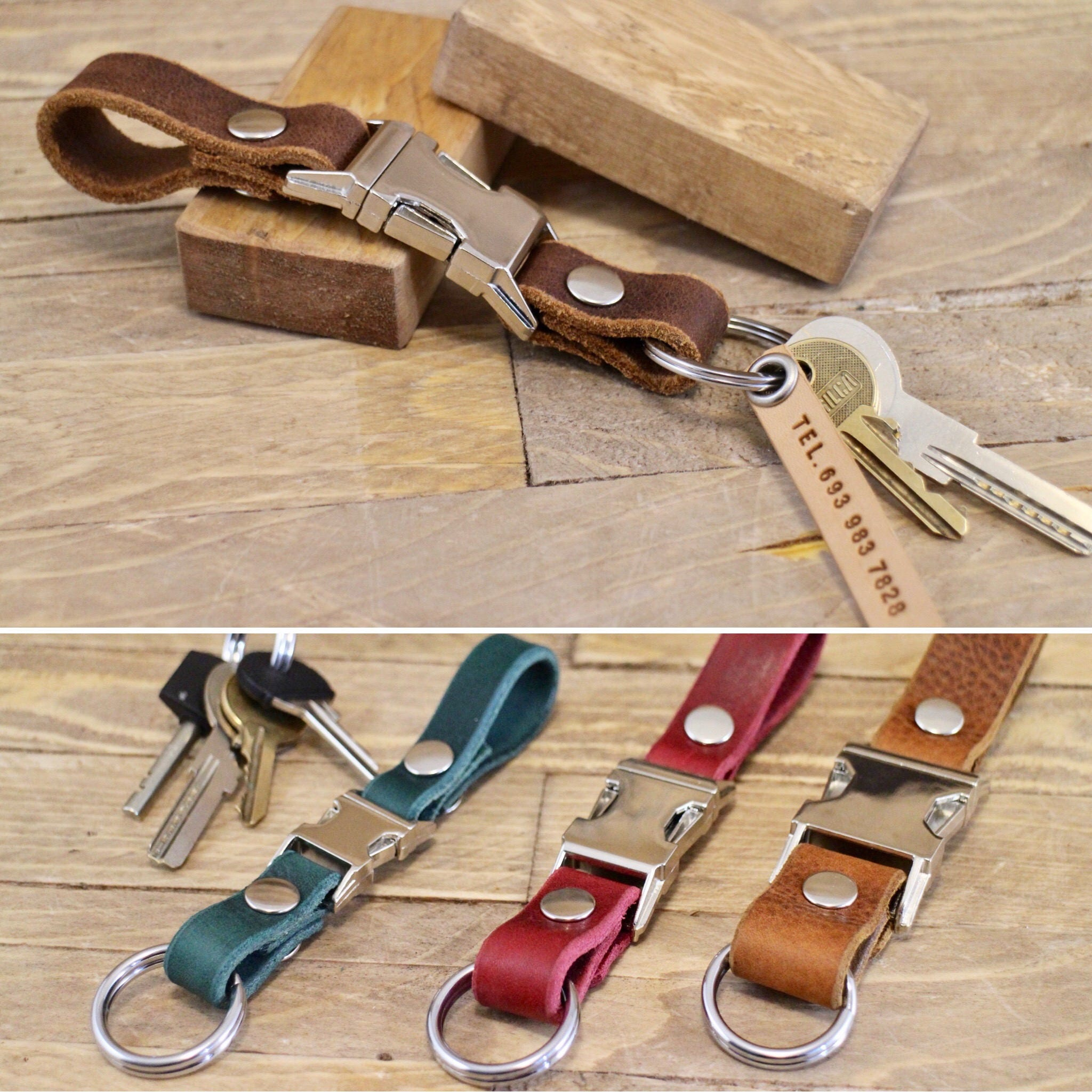 Keychain Free Phone Tag Belt Leather Key Chain Belt Leather