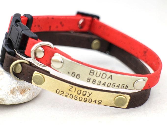 Breakaway cat collars - kitten collars -  personalized collars - kitten breakaway collars - Kitten id collars - Soft collar - small dog