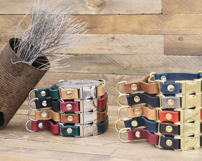 Martingale collar, Black collar, Leather dog collar, FREE ID tag, Handmade red collar, Martingale, Leather martingale collar, Colourful