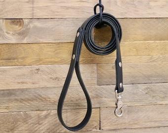 Dog leash, Handmade leather leash, Raven leather dog leash, Leash, Custom leash, Pet gift, Black leash, Pet gift, Dog supplies, Sturdy leash