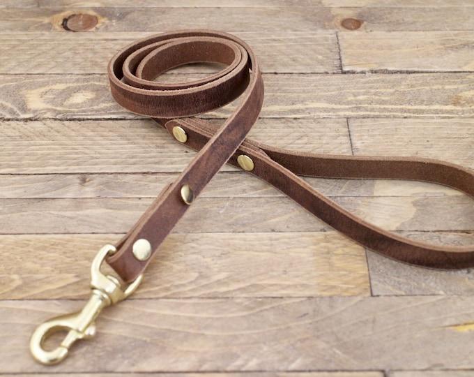 Leather leash,Handmade leash, Dog leash, Pet gift, Dark coffee, leash, Leash, Strong leather leash, Leather lead, Lead.