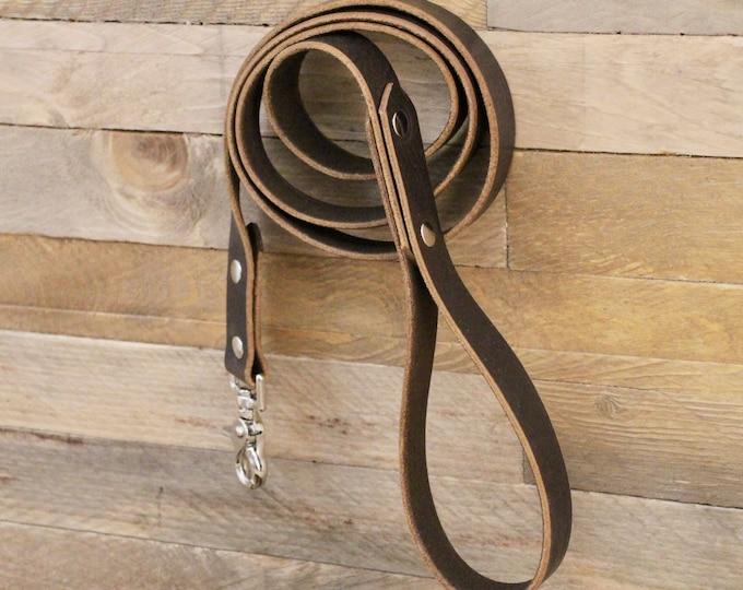 Handmade leash, Cocoa dog leash, Leather dog leash, Pet gift, Distressed leather leash, Matching leather leash, Leash, Leather leash, Silver