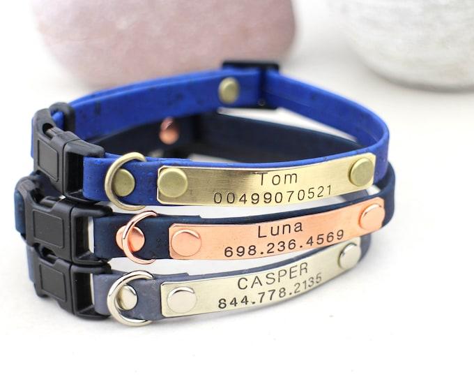 Cat collars - Kitten collars - Breakaway cat collar - Personalised cat collar - Soft cat collar - kitten breakaway collars - cat id tags