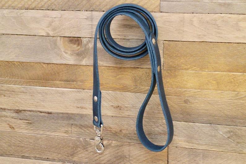 Dog leash Leather dog leash Pet gift Strong leash image 0