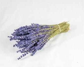 Royal Velvet Lavender - fresh dried bundles stunning aromatic fragrant wedding flowers bouquet - English tea party - dark purple
