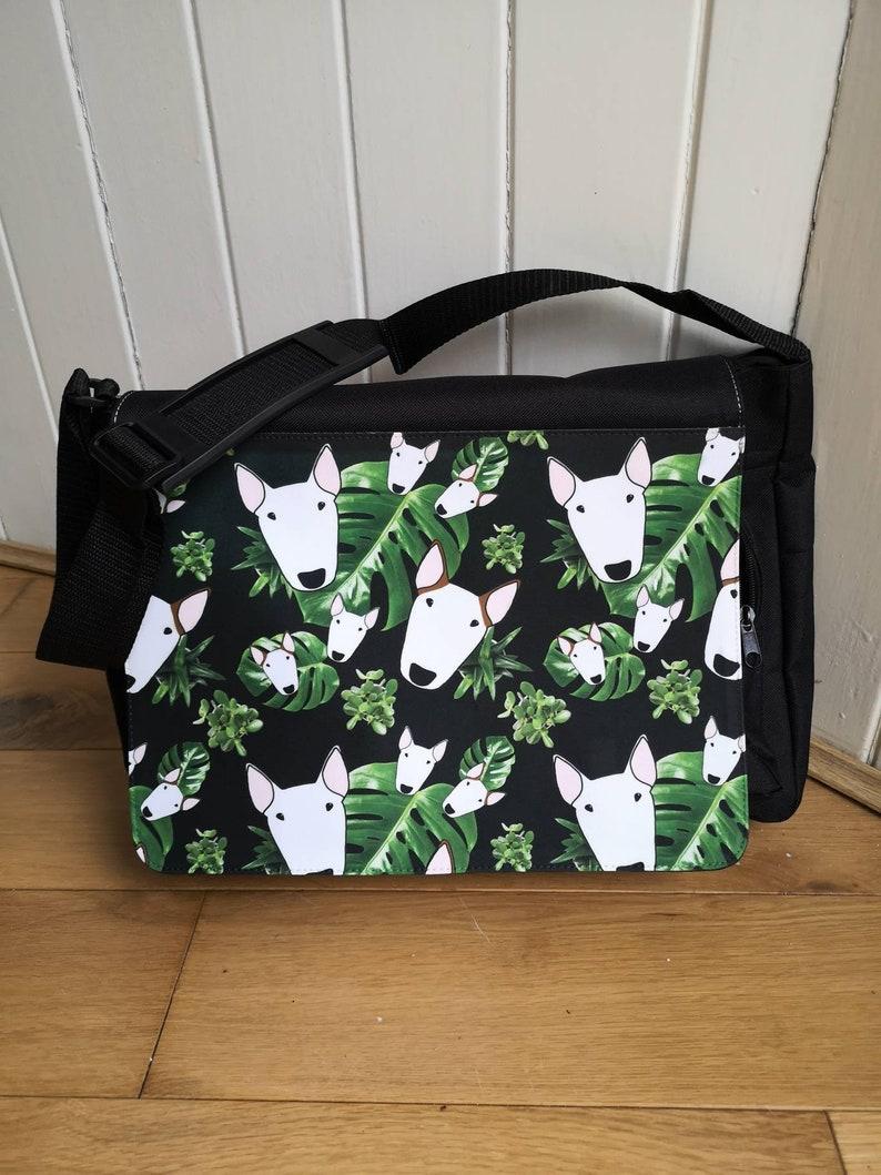 Custom pet print messenger bag image 0