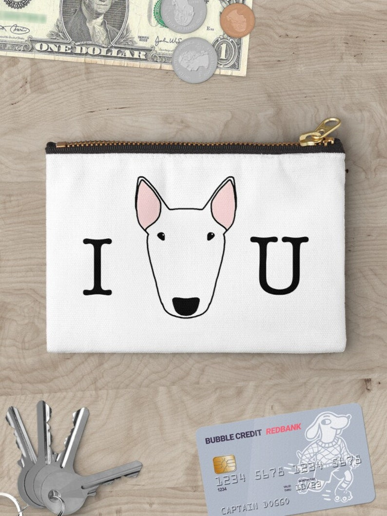 Custom Bully Zipper pouch in 3 sizes can be personalised image 0