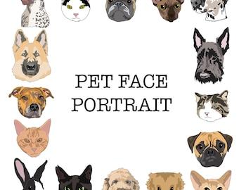 Custom digital pet portrait - bespoke commission original modern pop art gift