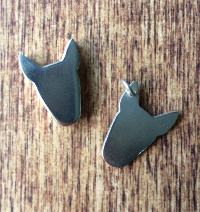 Solid silver bull terrier pendant charms image 0
