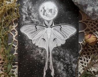 Kapala and Moth 5x7 Print