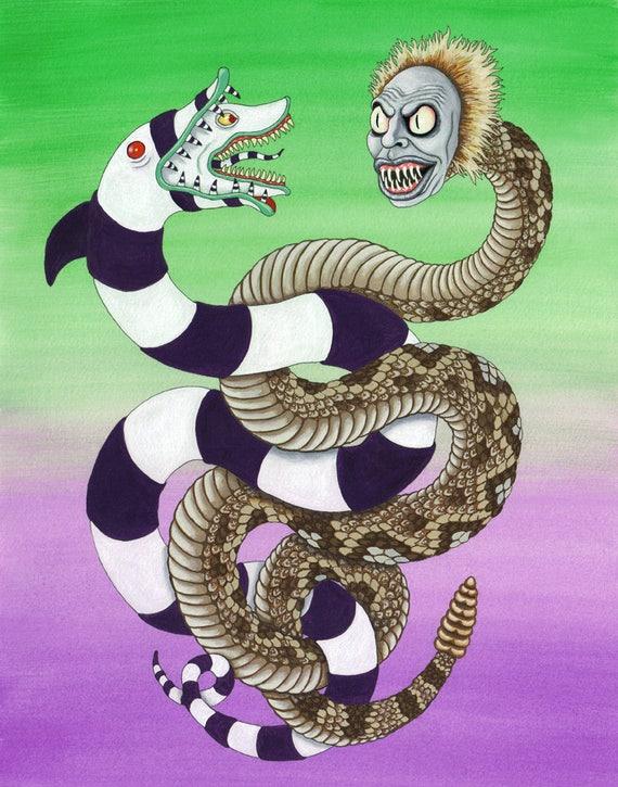 Beetlejuice Serpent Sandworm Digital Print Etsy