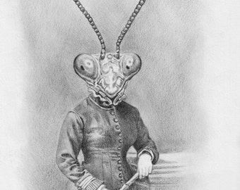 Mantis Head- giclee print