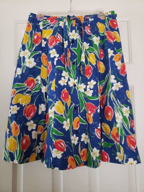 VTG 1970s TUMBLEWEEDS of Arizona Tulip Print Flor… - image 3