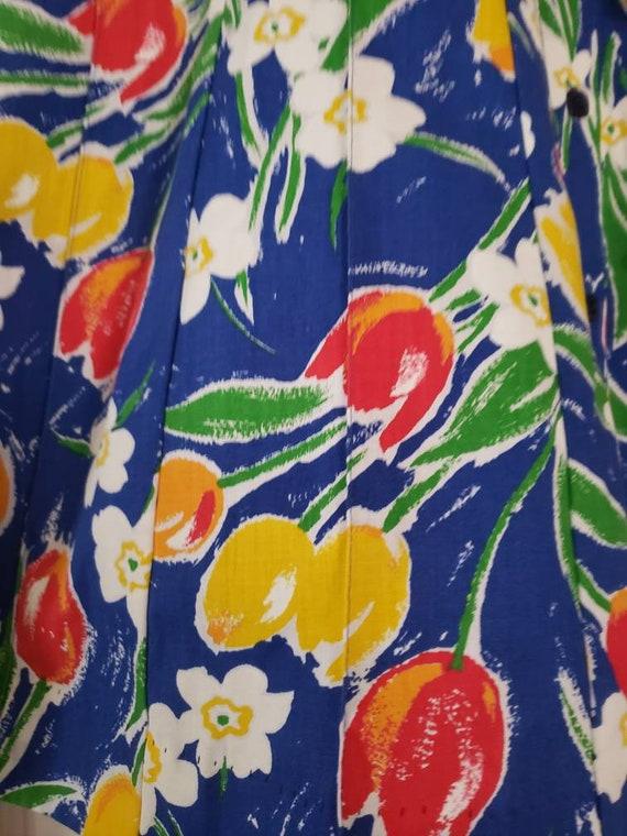 VTG 1970s TUMBLEWEEDS of Arizona Tulip Print Flor… - image 7