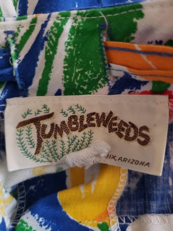 VTG 1970s TUMBLEWEEDS of Arizona Tulip Print Flor… - image 4