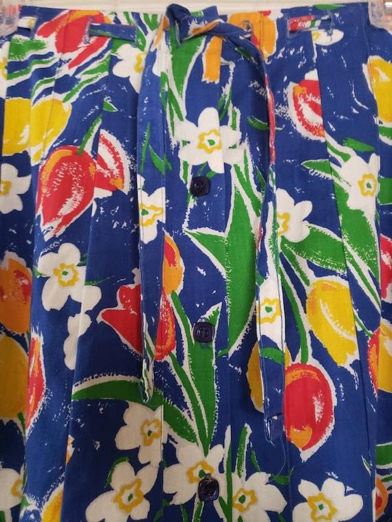 VTG 1970s TUMBLEWEEDS of Arizona Tulip Print Flor… - image 2