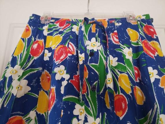 VTG 1970s TUMBLEWEEDS of Arizona Tulip Print Flor… - image 5