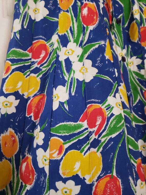 VTG 1970s TUMBLEWEEDS of Arizona Tulip Print Flor… - image 9