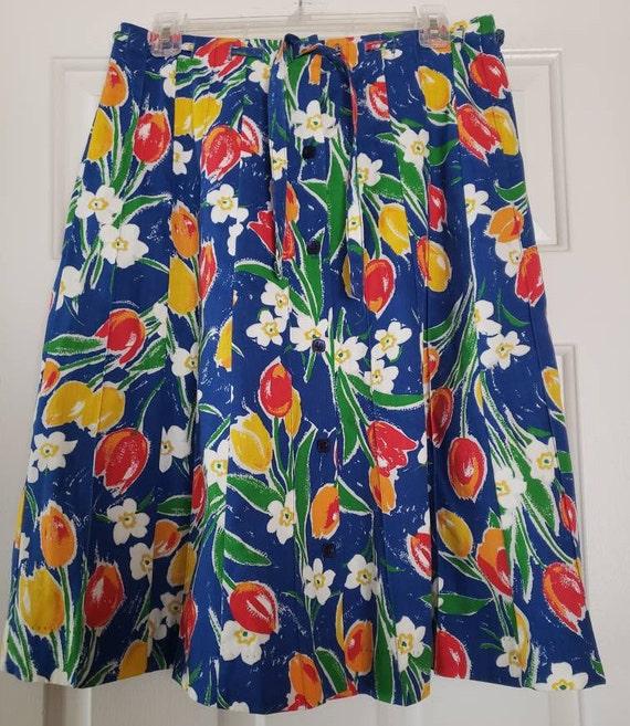 VTG 1970s TUMBLEWEEDS of Arizona Tulip Print Flor… - image 8