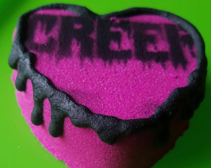 Featured listing image: Creep Bath Bomb, Apple and Blackberry with Juniper cocoa butter frosting