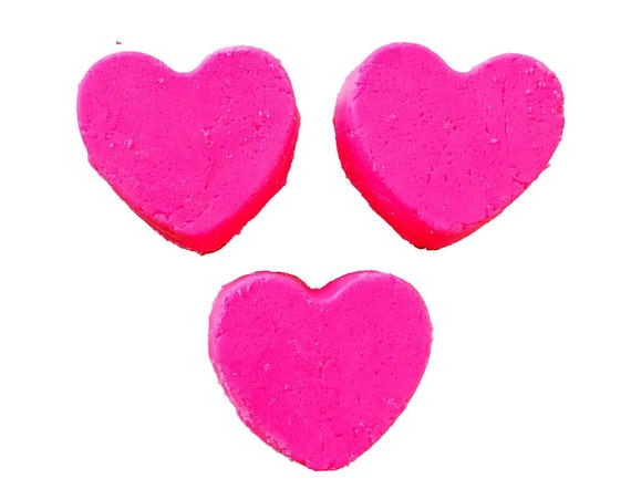 Heart foaming bath melts, custom color and scents