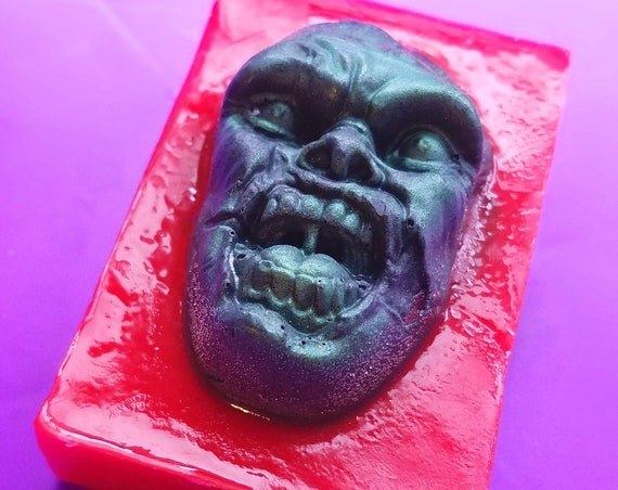 Zombie Scream:  Coconut oil + Goats Milk Soap,  Peppermint and Clove scented