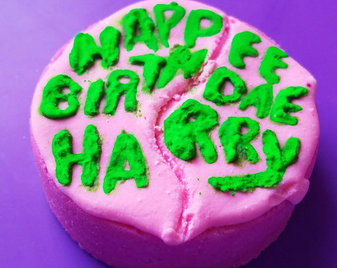 Featured listing image: Groundskeeper's Cake, Happee Birthdae Harry bath bomb