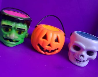 Halloween Bucket Bath Bombs, Franky, Pumpkin, Bones