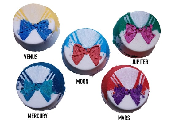 Magical Girl Collection: Sailor Moon Inspired Bath Bombs, Fizzingand Foaming Bath Melts