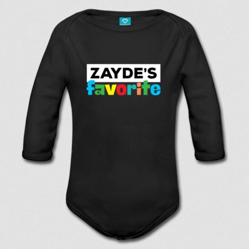 New Baby Gift Zaydes Favorite Jewish Grandchild Organic Cotton Long Sleeve Bodysuit