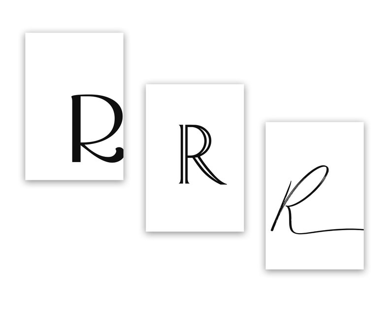photo relating to Printable Letter R identified as Printable Letter R Letter Artwork Print R Very first Electronic Wall Poster  Monogram Nursery Wall Artwork Letter R Print R Typography Decor