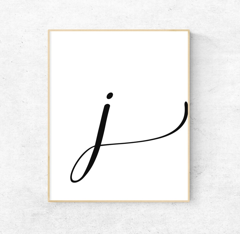 photo relating to Printable Letter J named Printable Letter J Letter Artwork Print 1st Electronic Wall Poster  Monogram Nursery Wall Artwork Letter J Print Ground breaking Typography Decor