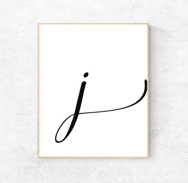 photo relating to Printable Letter J named Printable Letter J Letter Artwork Print 1st Electronic Wall Poster  Monogram Nursery Wall Artwork Letter J Print Ground breaking Typography Decor