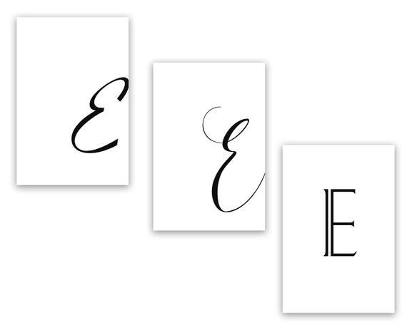 graphic relating to Printable Letter E identified as Printable Letter E Letter Artwork Print E Initially Electronic Wall Poster  Monogram Nursery Wall Artwork Letter E Print E Typography Decor