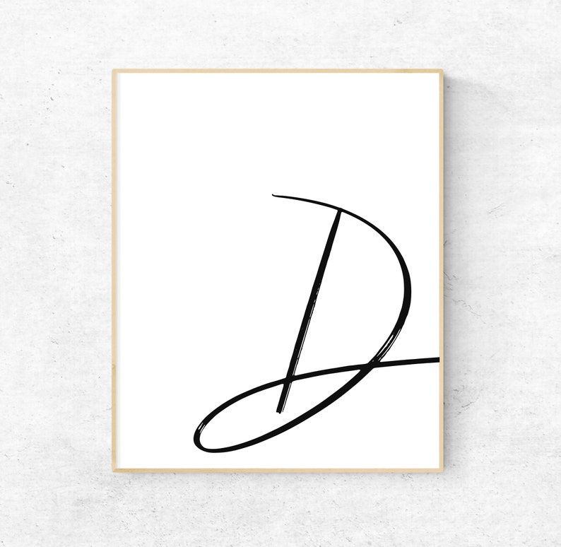 image regarding Printable Letter D identify Printable Letter D Letter Artwork Print D To start with Electronic Wall Poster  Monogram Nursery Wall Artwork LetterD Print D Typography Decor