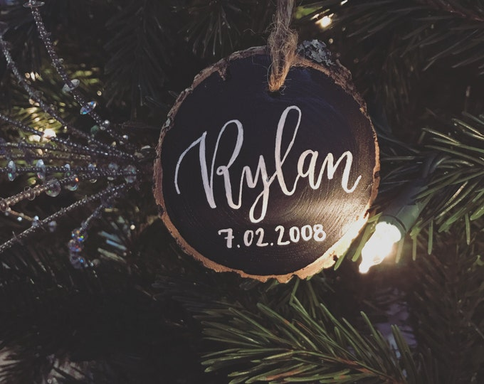 PREORDER: Personalized Wooden Christmas Ornament