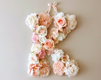 bridal shower decorations floral letters vintage wedding decor personalized nursery decor baby shower gift photography prop