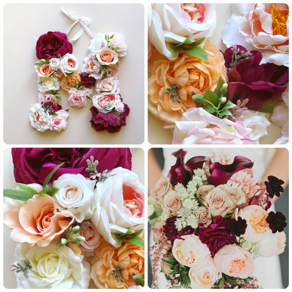 Boho Chic Summer Wedding Decor Floral Letter Etsy