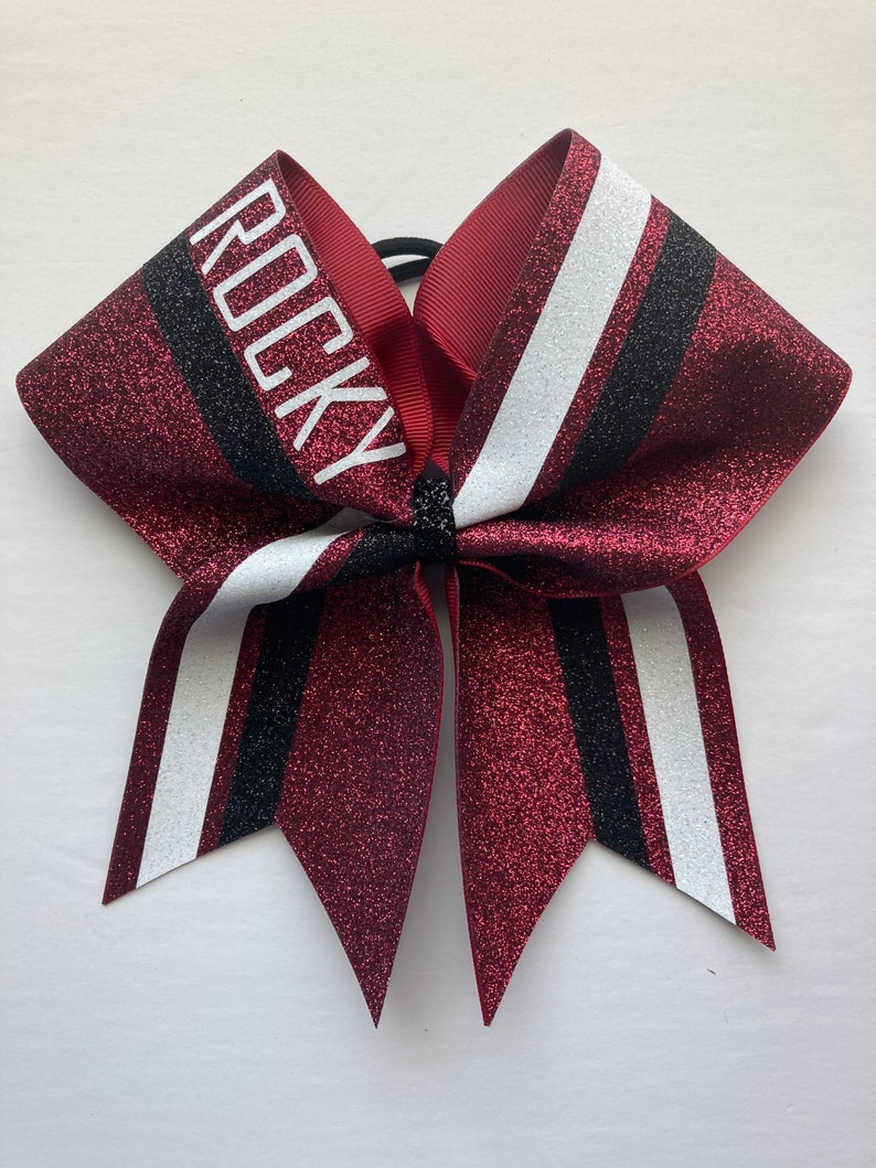 custom cheer bow. Price listed is per individual bow Custom Cheer bow made in your team color Glitter Cheer Bows game day bow
