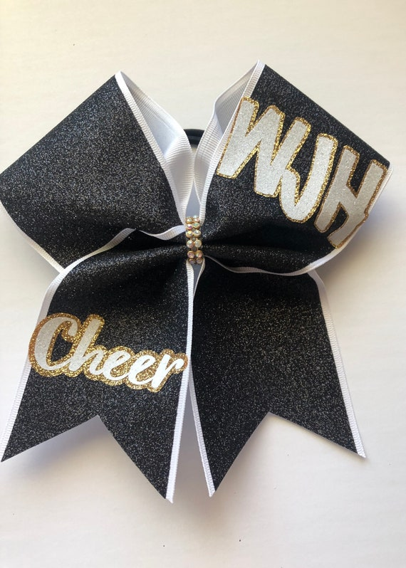 Custom Glitter Cheer Bows Price listed is per bow price custom team bow Comment your team name in comments when ordering Cheer bow