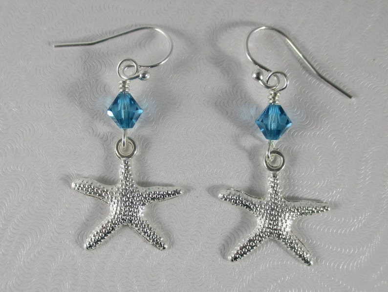 01ad62347 Beach earrings beach lovers gift silver starfish earrings | Etsy