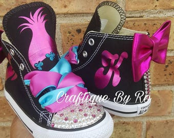 Troll Bling Shoes - Birthday Outfit - Custom Shoes - Pink Troll Shoes -  Troll Birthday Outfit 2bbf78ae91