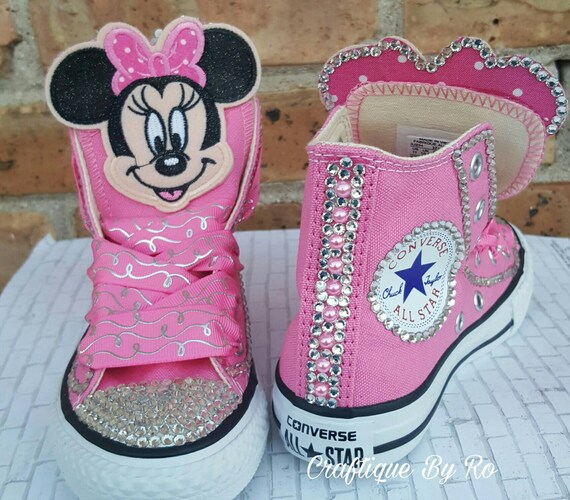 ada1e4c8abb7 Custom Pink Mouse Birthday Bling Shoes Birthday Outfit