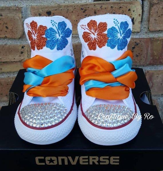 17fd6317b2d6 Moana Bling Shoes Birthday Outfit Custom Shoes Moana