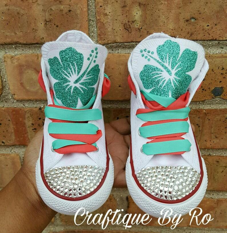 dccb4e6c4 Moana Bling Shoes Birthday Outfit Custom Shoes Moana | Etsy