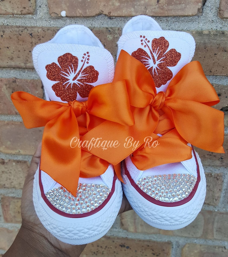 9a044d436 Moana Orange Bling Shoes Birthday Outfit Custom Shoes | Etsy