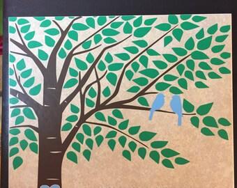 Love Birds Wedding Tile
