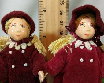 Small People by Cecily: Velvet Coat Sisters